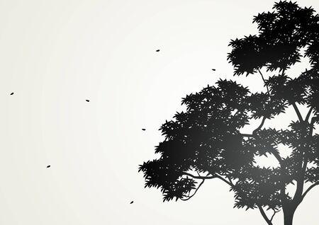 nurture: Silhouette illustration of a tree