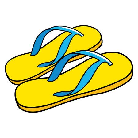 sandals: Cartoon illustration of sandals Illustration