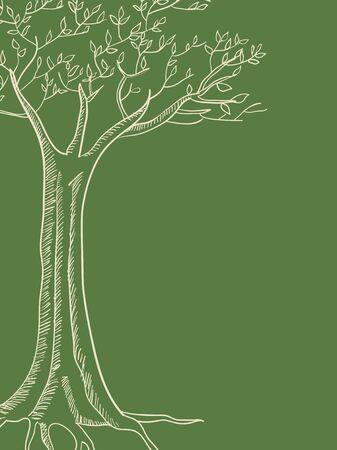 fertile: Line art illustration of a tree