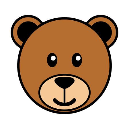 kiddish: Simple cartoon of a cute bear Illustration