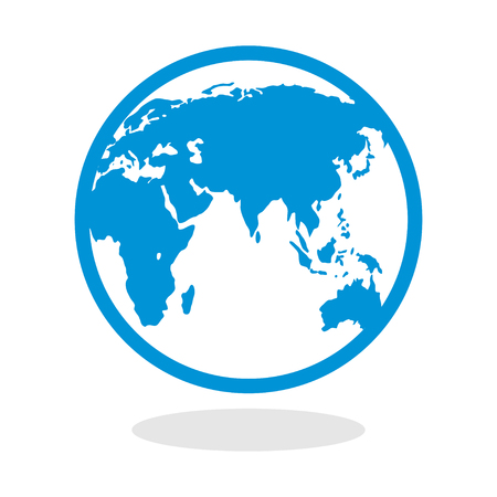 earth logo: Icon of a globe for website or mobile application Illustration