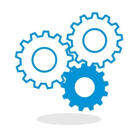 Symbol eines Zahnräder für die Website oder den mobilen Einsatz