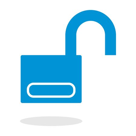 clip arts: Icon of an open padlock for website or mobile application Illustration