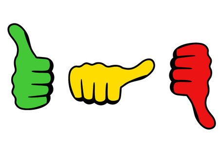 average: Three thumbs icon for satisfaction level