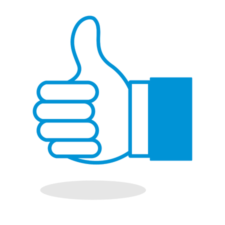 thumbs up gesture: Icon of thumbs up or like hand gesture for website or mobile application