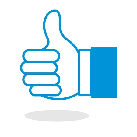 praise: Icono del pulgar hacia arriba o gesto con la mano como para el sitio web o aplicación móvil