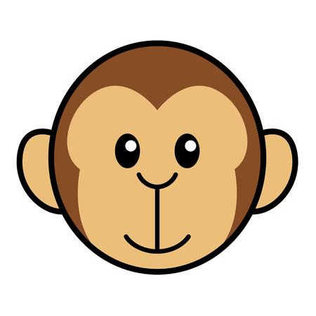 kiddies: Simple cartoon of a cute monkey Illustration