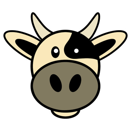 kiddies: Simple cartoon of a cute cow