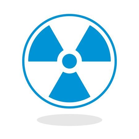 radioactive symbol: Icon of a radioactive symbol for website or mobile application