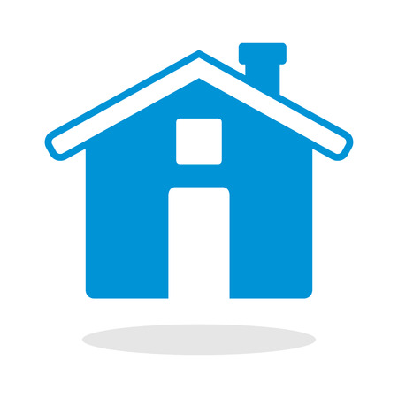 arts symbols: Icon of a house for website or mobile application