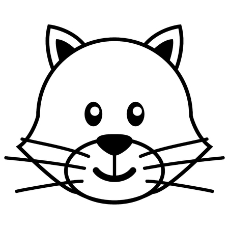 kiddies: Simple cartoon of a cute cat