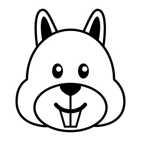 ardilla: simple caricatura de una ardilla linda