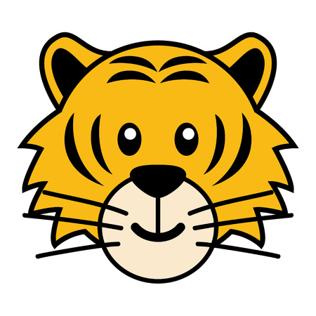 kiddies: Simple cartoon of a cute tiger
