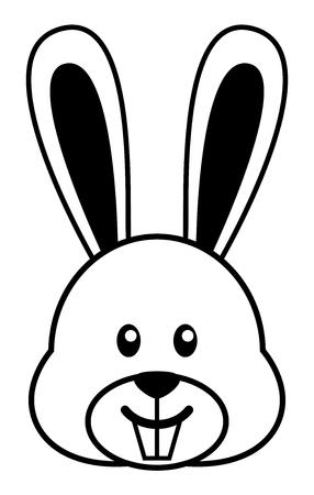 Simple cartoon of a cute rabbit