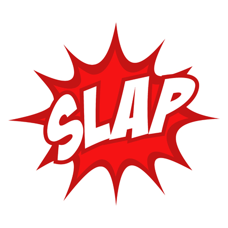 slap: Slap text in comic splash icon Illustration