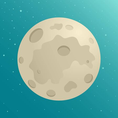 crater: Cartoon illustration of the moon
