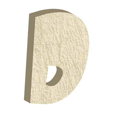 textured effect: Font type with rock or stone texture, letter D