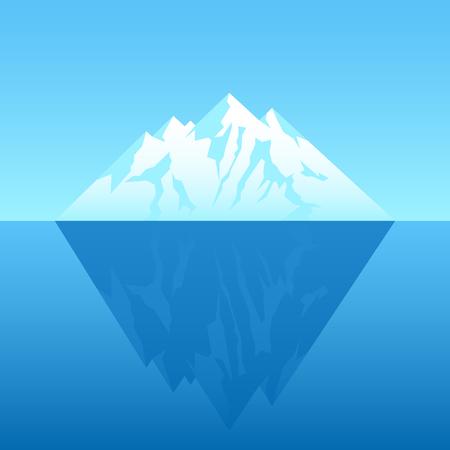 Illustration of an iceberg  イラスト・ベクター素材