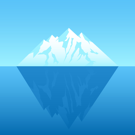 Illustration of an iceberg Stock Illustratie