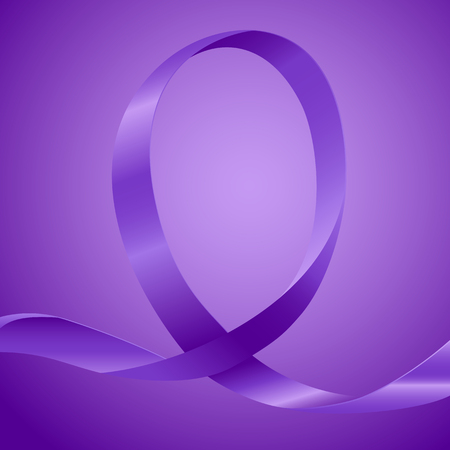 endometrial: Purple ribbon, background template with copy space for cover, page or advertisement design lay out