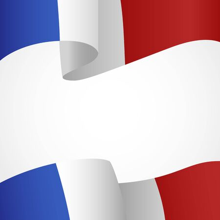 insignias: Decoration of France insignia on white Vectores