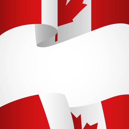 canada: Decoration of Canada insignia on white Illustration
