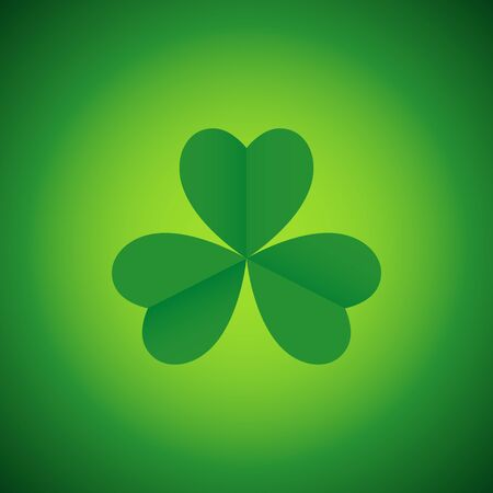 leaved: Simple graphic of three leaved shamrock, symbol for Saint Patrick