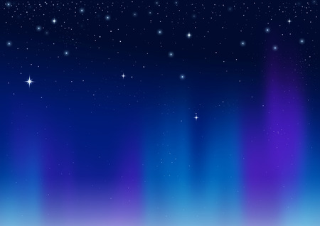 phenomenon: Aurora abstract background,  sky illustration, natural phenomenon