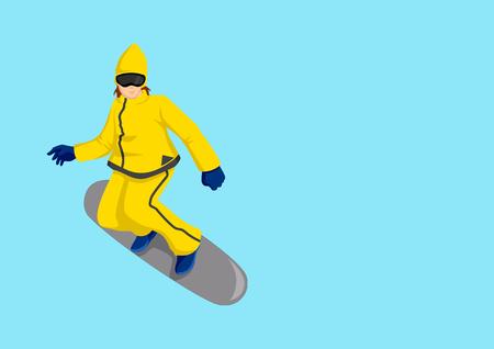 boarder: Cartoon Illustration of a snow boarder Illustration