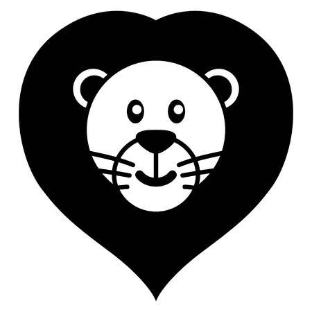 kiddies: Simple cartoon of a cute lion