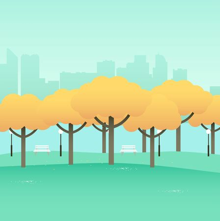central park: Simple graphic of city park Illustration