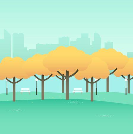 central park: Simple graphic of city park Illustration