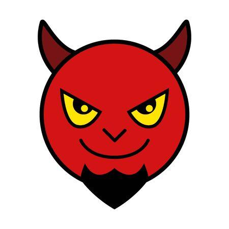 lucifer: Icon of red devil Illustration