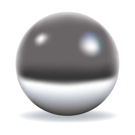 chrome: Chrome sphere isolated on white
