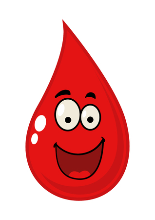 kiddies: Cartoon illustration of a blood drop Illustration