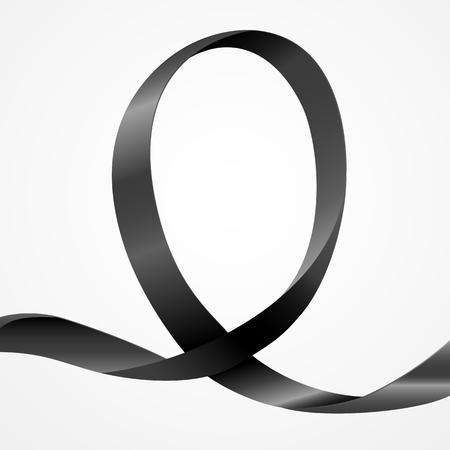 ruban noir: Sensibilisation ruban noir, modèle de fond avec copie espace pour la couverture, la page ou la publicité conception Étalez