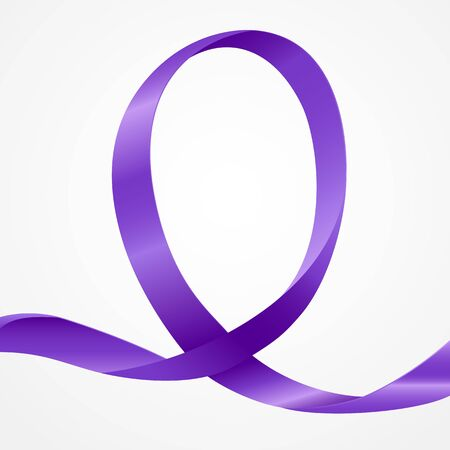 gynecologic: Awareness purple ribbon, background template with copy space for cover, page or advertisement design lay out Illustration