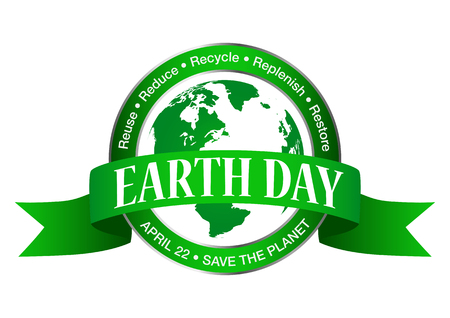 Earth day icon isolated on white background Illustration