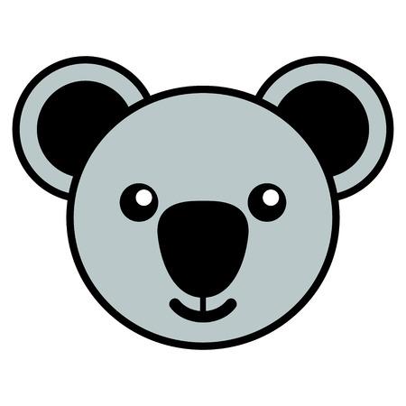 simple life: Simple cartoon of a cute koala
