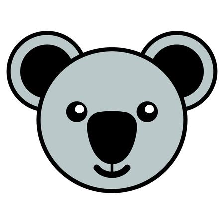 Simple cartoon of a cute koala