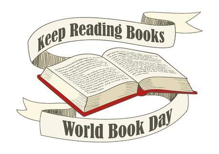 art book: Line art illustration for World Book Day theme