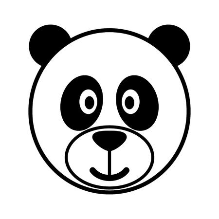 kiddies: Simple cartoon of a cute panda