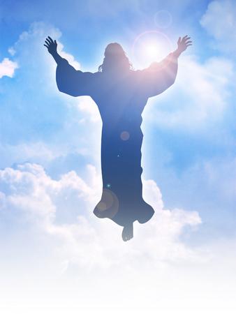 Ilustracja sylwetka wniebowstąpieniu Jezusa Chrystusa