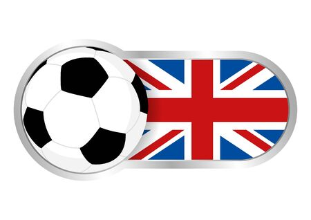 Modern icon for soccer team with United Kingdom insignia