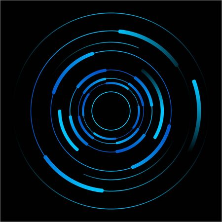 blue light background: Abstract vector of blue circles