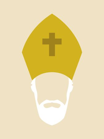 Simple graphic of a Roman Catholic Archbishop
