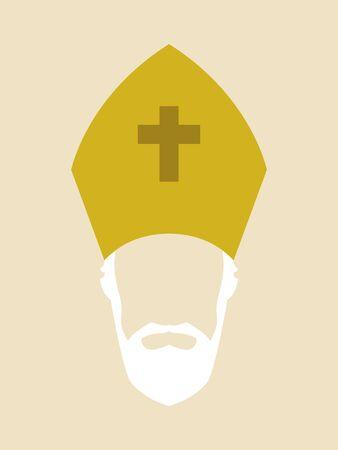 simbolos religiosos: gráfico simple de un arzobispo católico