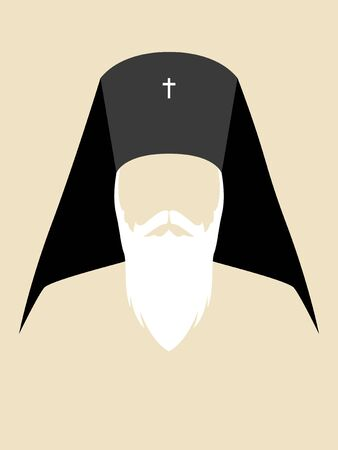 Simple graphic of an Orthodox Archbishop