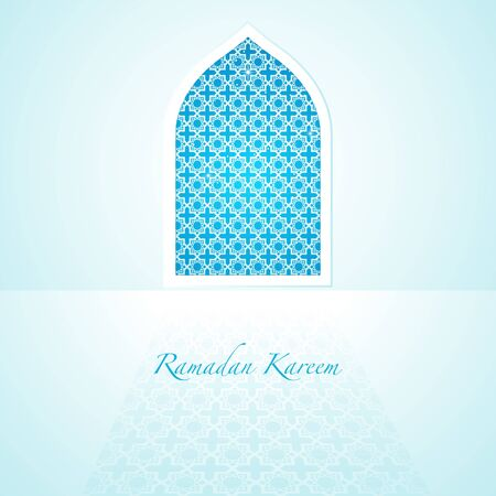 religious backgrounds: Graphic illustration of arabic pattern on mosque window