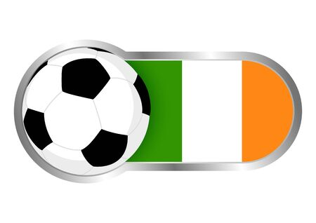 republic of ireland: Modern icon for soccer team with Republic Of Ireland insignia
